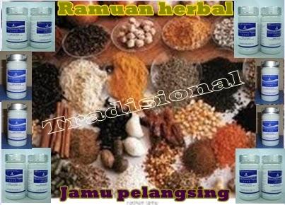 Ramuan herbal jamu pelangsing tradisional