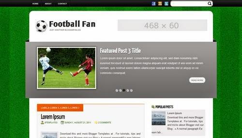 Football Fan - Free Blogger Template