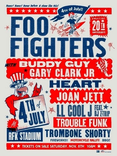 Foo Fighters 20th anniversary concert lineup