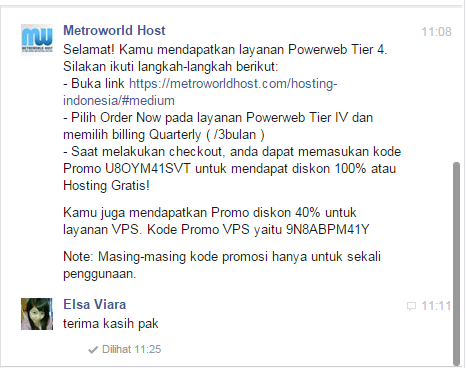 Hosting Gratis Dari Metroworld Host