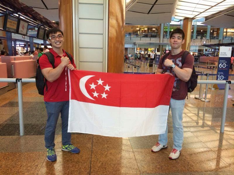 Singapore Arm Wrestling's Valen Low and Tee Jun departing for Pattaya International Arm Wrestling Championships