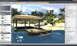 Interface do DX Studio Editor