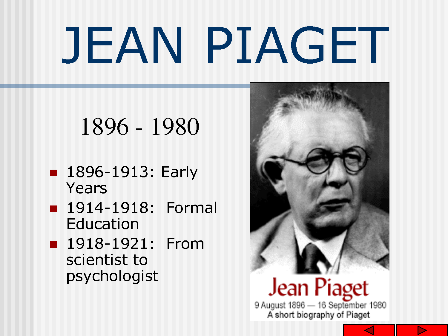 jean piaget's theory of child development Cognative, children, reasoning - jean piaget's theory of development.