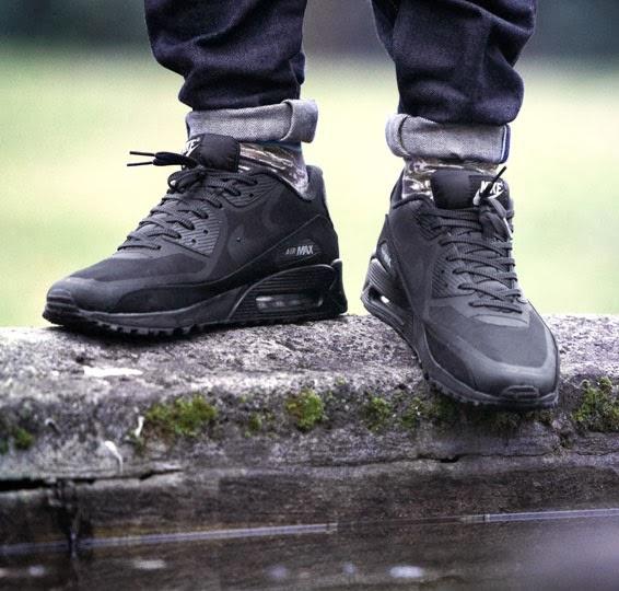 Air Max 90 Chaussures De Basket Autocollants Réfléchissants Noirs