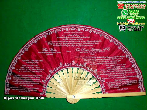 Kipas Undangan Unik Kain Gorontalo
