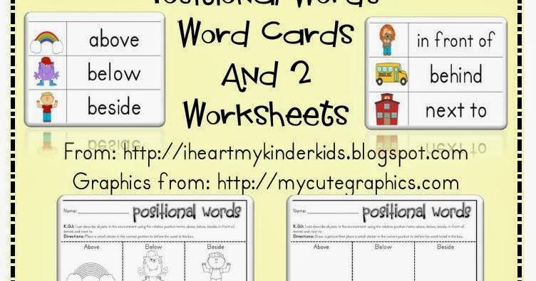 math worksheet : kindergarten lessons on positional words  the best and most  : Kindergarten Position Worksheets
