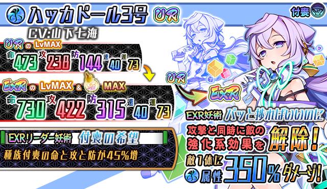 『妖怪百姫たん!』 「UR ハッカドール3号」キャラクター詳細