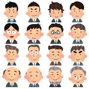 いろいろな男性会社員のアイコン