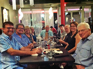 The second farewell dinner--at Grazzi, St. Pete.