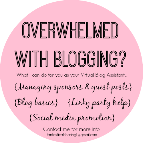 Overwhelmed with blogging? You may need a blog assistant! Check out what services I offer www.fantasticalsharing.com