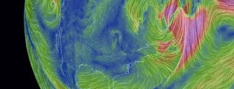 Mapa Vientos en Tiempo Real en el Pamir, a 5000 metros de altitud