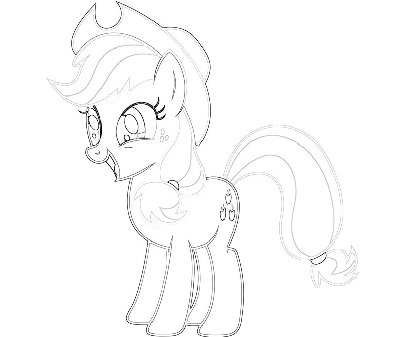 #16 My Little Pony Applejack Coloring Page