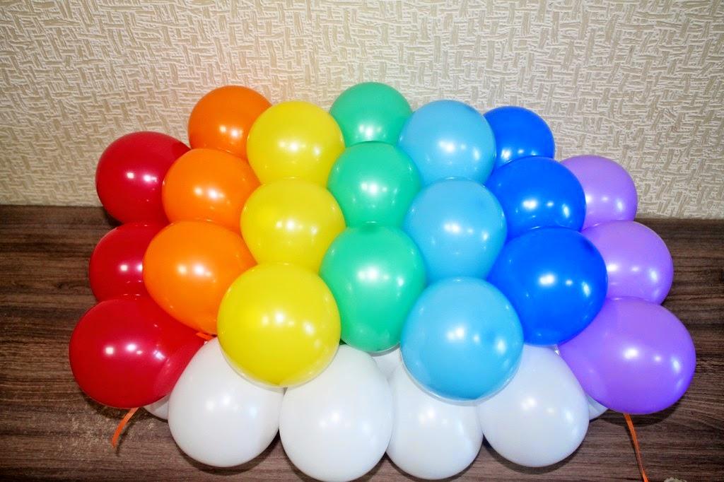 изготовление панно из воздушных шаров