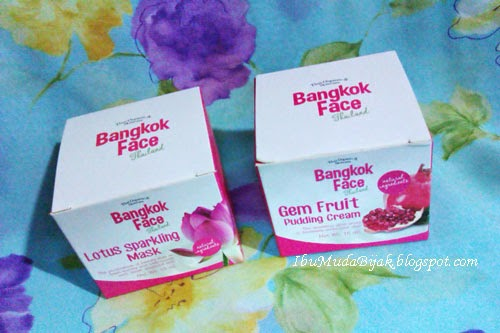 Review Bangkok Face Lotus Mask & Gem Fruit Pudding Cream
