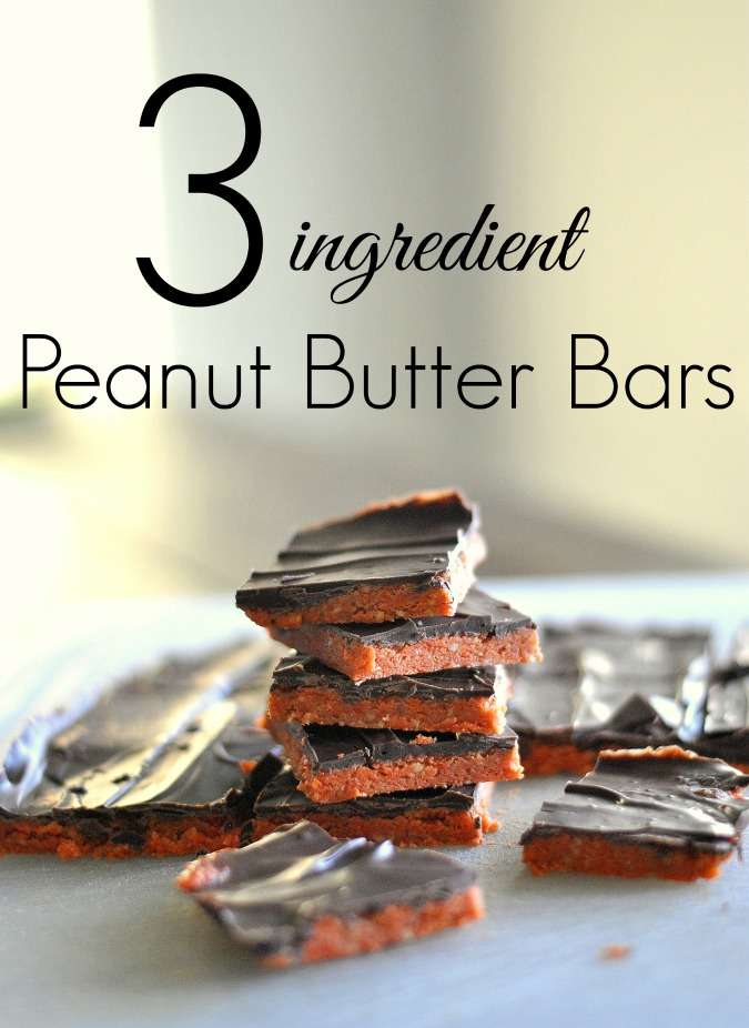 3 ingredient peanut butter bars
