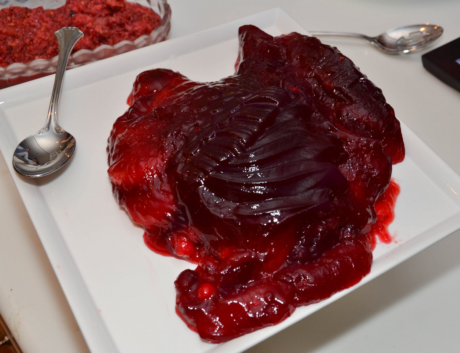 after seeing this recipe for a cranberry pomegranate gelatin shaped