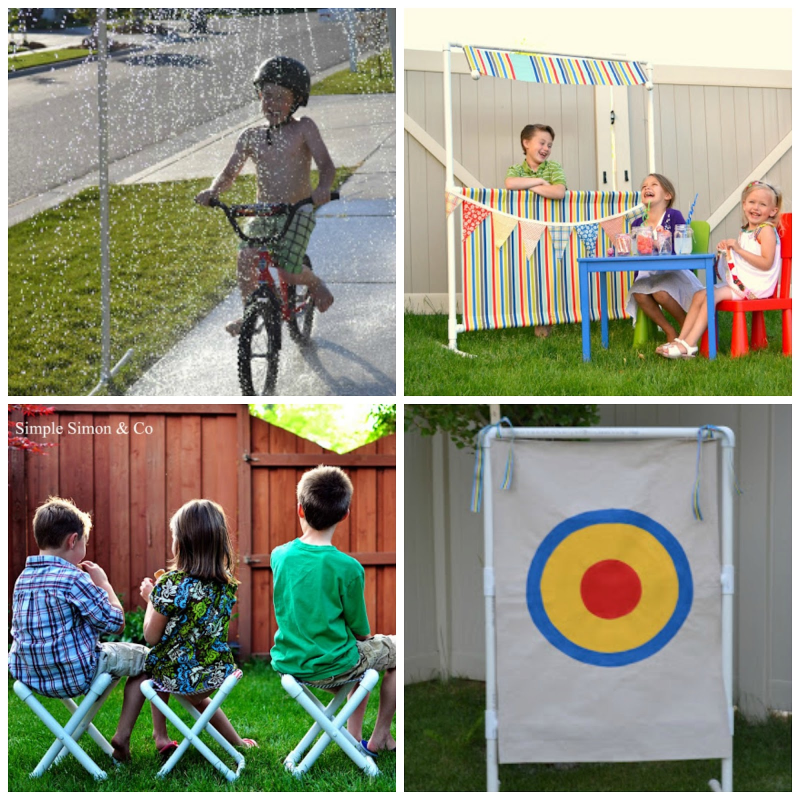 Diy pvc pipe summer cabana tutorial simple simon and company for Diy pvc projects