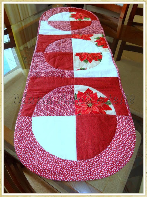 Caminho de mesa, Patchwork, Caminho mesa patchwork, Revista patchwork, Publicado revista, Publicado revista patchwork