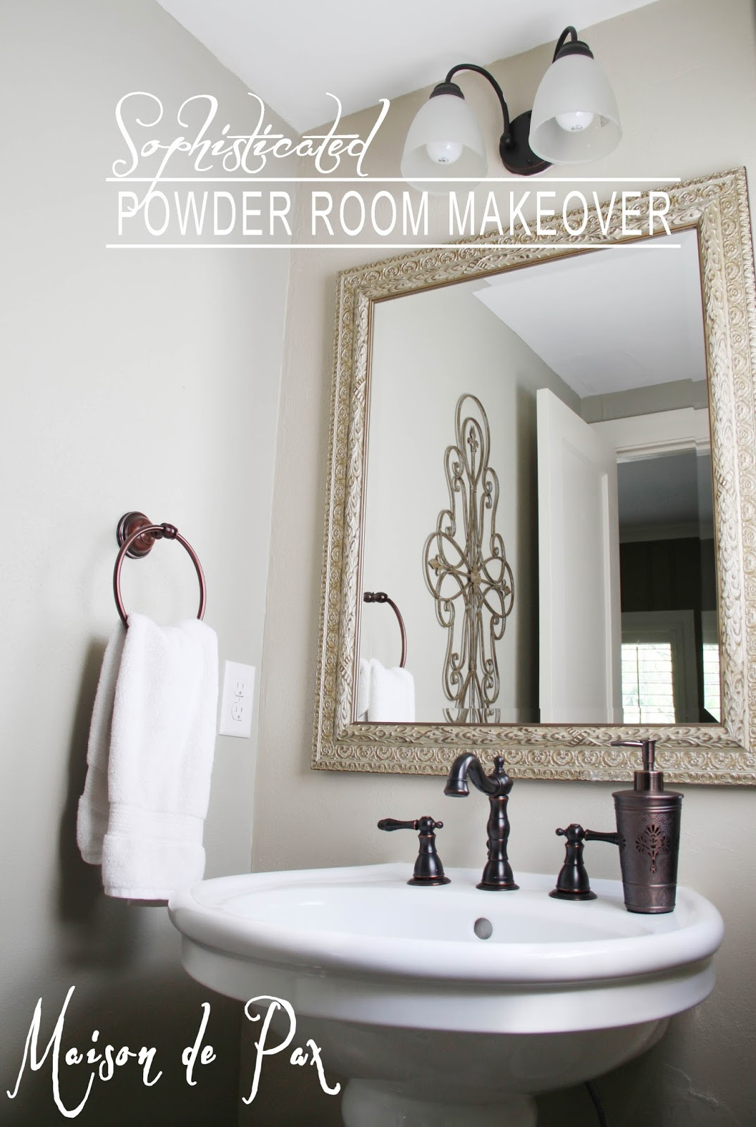 Powder Room Makeover powder room makeover - maison de pax