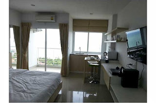 United 21 Seaview Condo Balcony View | Book Budget Apartments for rent in Phuket, Pattaya, Bangkok