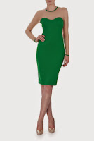 Rochie verde din tull si jerse