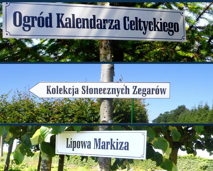 Ogrody w Dobrzycy nazwy alejek