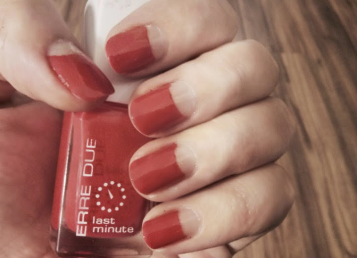 half moon red mani erre due