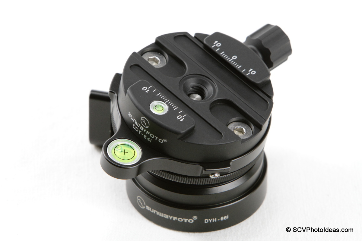 Sunwayfoto DDY-64i Discal QR clamp on DYH-66i leveling base