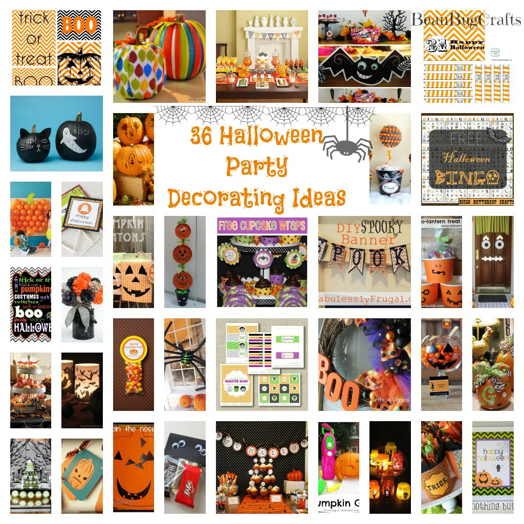 Beanbugcrafts 36 halloween party decoration printables for Halloween party favor ideas