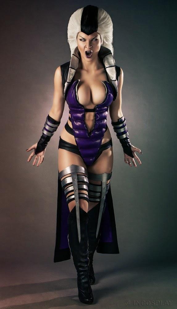 photo de Jannet «Sorekage»Vinogradova en cosplay de sindel du jeu mortal kombat