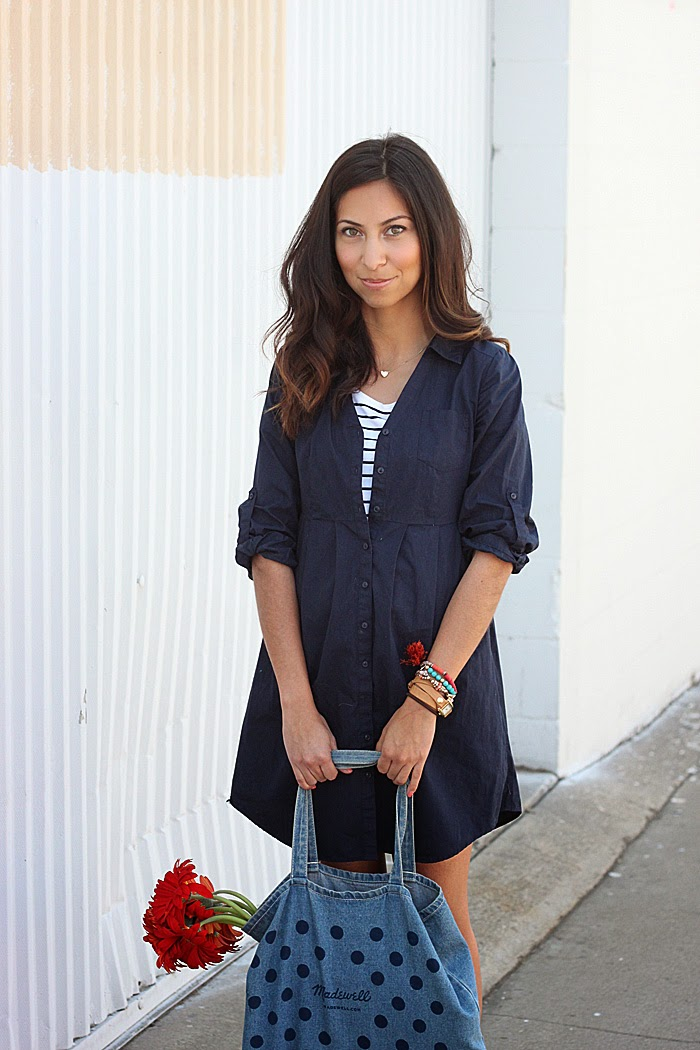 styling a shirtdress
