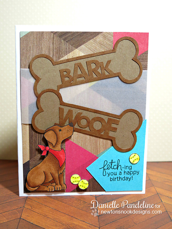 Labrador Dog Birthday Card by Danielle Pandeline | Fetching Friendship Stamp set by Newton's Nook Designs