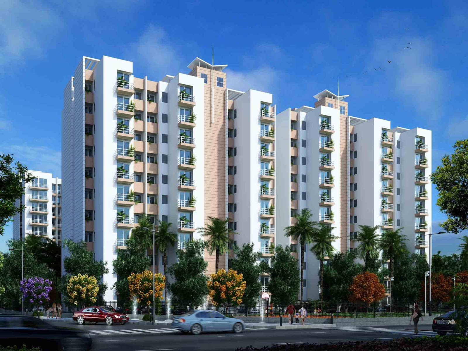 Residential flats apartments houses bung lows and commercial space