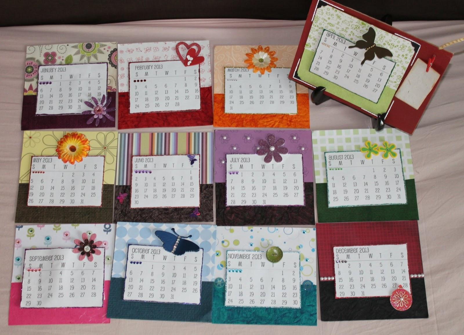 Handmade Calendar Designs : Handmade calendars ideas images diy calendar wood