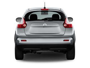 Rear view of silver 2011 Nissan Juke