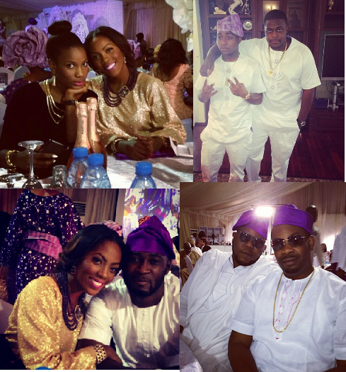 Davido's sister's wedding pictures