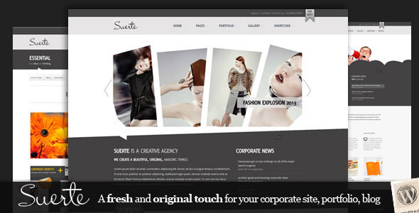 Suerte Wordpress Theme Free Download by ThemeForest.