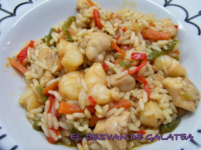 El desvan de galatea salteado de arroz con pollo - Salteado de arroz ...