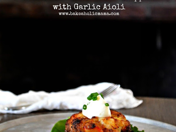 Lobster and Bacon Cakes with Garlic Aioli