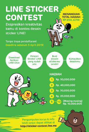Pendaftaran LINE Sticker Contest Sudah Dibuka Untuk Indonesia