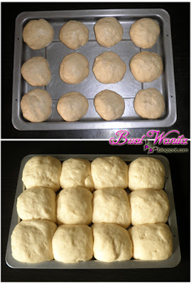 Resepi Mudah Roti Bun Manis Simple Sedap. Cara Buat Roti Bun Gebu Simple. Cara Uli Doh Roti Bun.