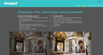 Editar fotos gratis en Zhopped