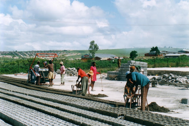 Brick-making yard with Doubell Machinery