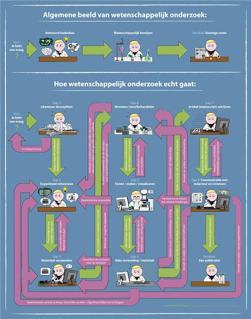 Hoe wetenschappelijk onderzoek in werkelijkheid gaat