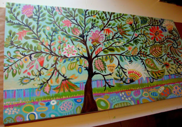Go Back > Gallery For > Whimsical Trees Painting