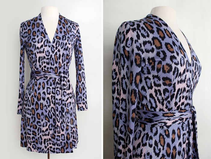 vintage clothing 90s DVF wrap dress