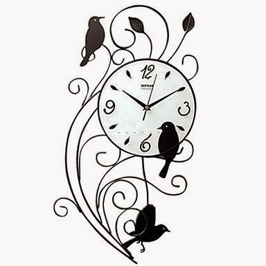 Reloj de Pared Pájaros de Hierro