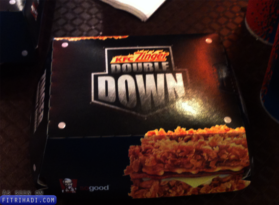 harga kfc zinger double down burger