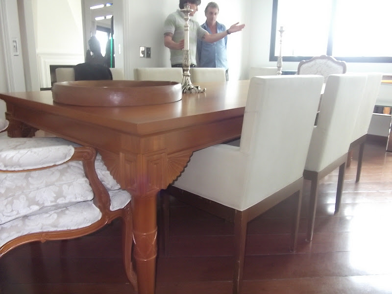 decoracao de interiores artesanal: Decoração de Interiores: Arquitetura e Decoração de Sala de Jantar