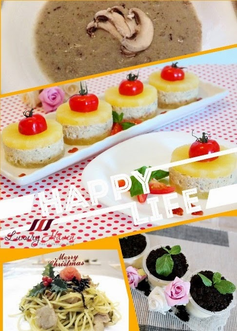 mushroom truffles pineapple mentaiko spaghetti potted plant desserts